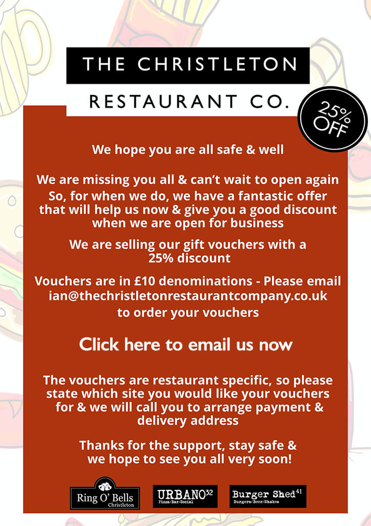 christleton restaurant company voucher